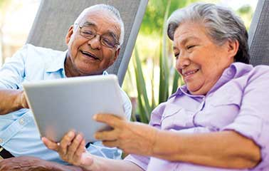Image of older couple reading