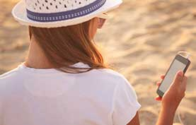Image of woman using mobile phone