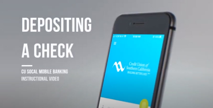 Watch this video to learn how to deposit a check in Mobile Banking.