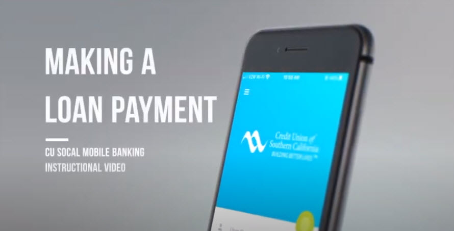 Watch this video to learn how to make a loan payment in Mobile Banking.