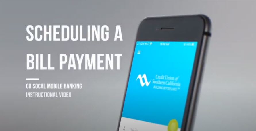 Watch this video to learn how to pay a bill in Mobile Banking.