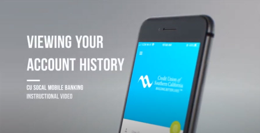 Watch this video to learn how to view account history in Mobile Banking.