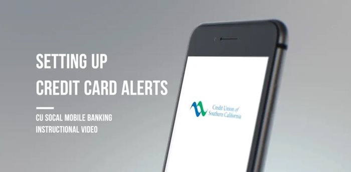 Learn how to setting up credit card alerts on mobile
