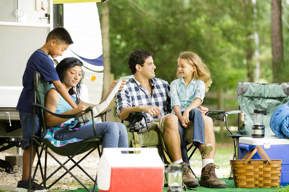 Image of family camping.