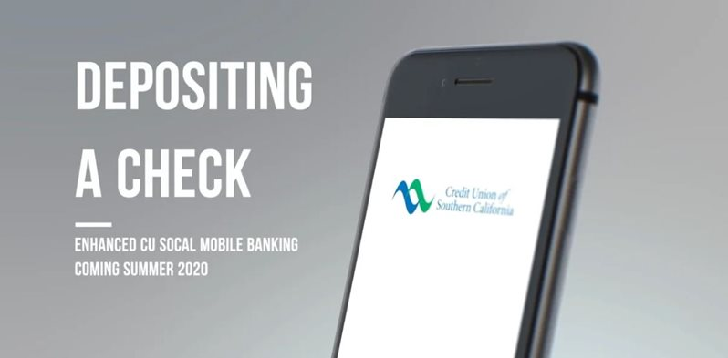 Learn how to depositing a check on CU SoCal's new Online Banking.