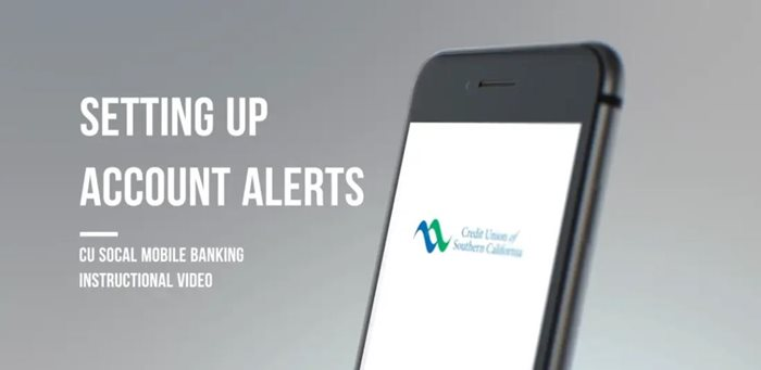 Learn how to setting up account alerts on mobile
