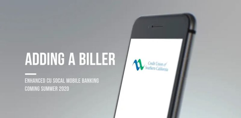 Learn how to adding a biller mobile on CU SoCal's new Online Banking.