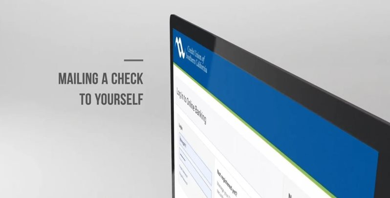 Learn how to mailing a check to yourself on CU SoCal's new Online Banking.