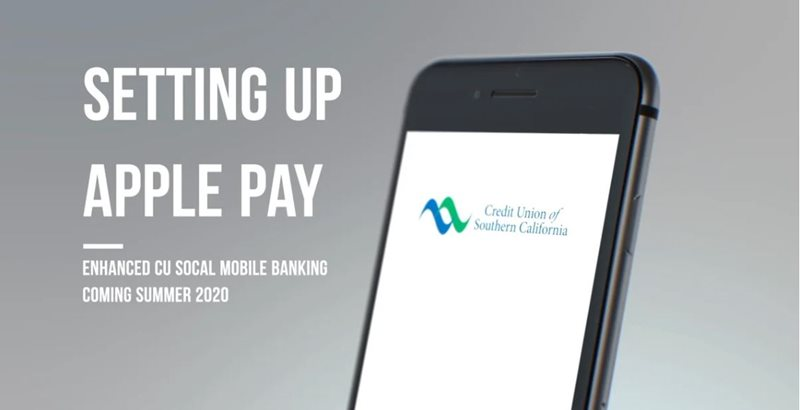 Learn how to setting up Apple pay on CU SoCal's new Online Banking.