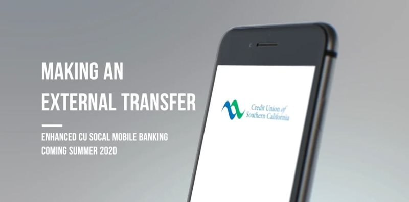 Learn how to making an external transfer on CU SoCal's new Online Banking.