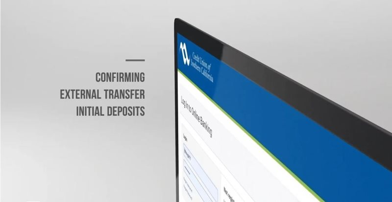 Learn how to confirming external transfer initial deposits desktop on CU SoCal's new Online Banking.