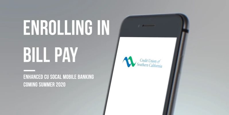 Learn how to enrolling in bill pay on CU SoCal's new Online Banking.